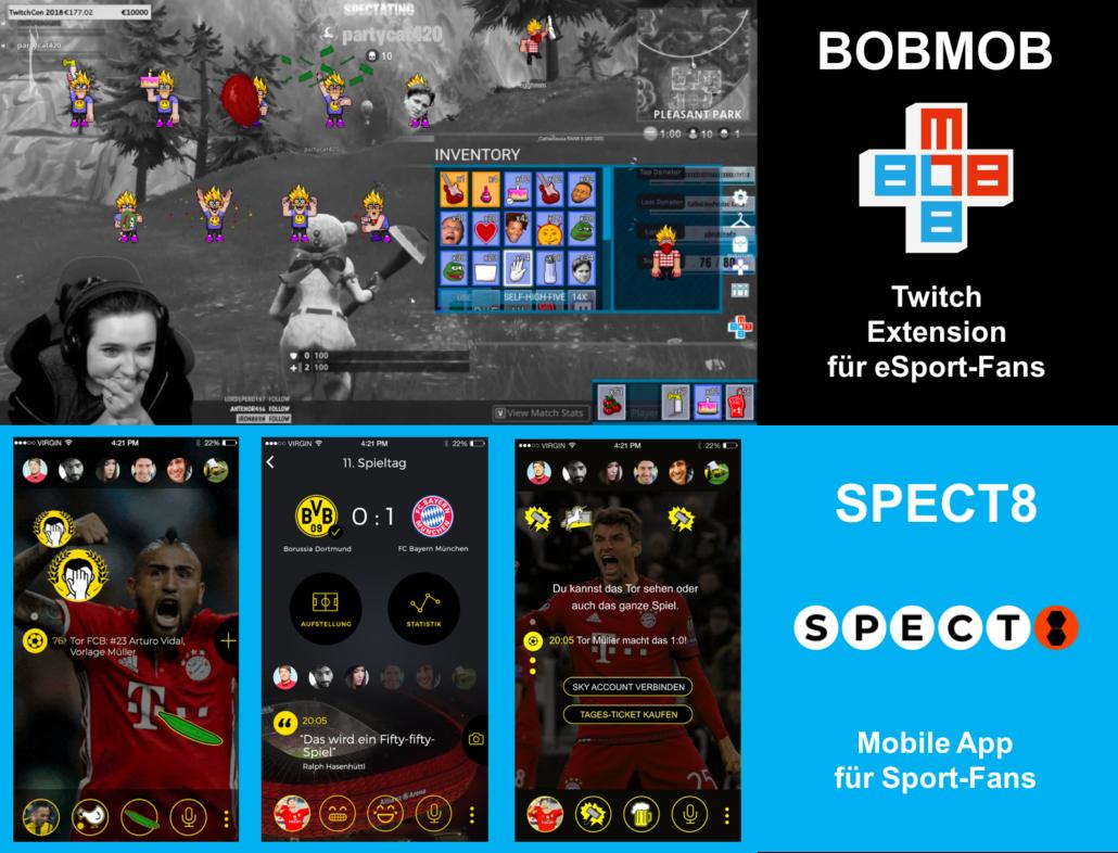 Screenashots von Computerspielen BOBMOB, SPECT8
