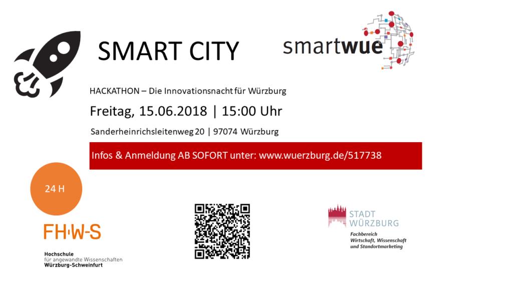 Plakat SMART CITY Würzburg #smartwue