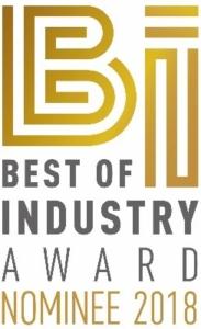 Schriftzug Best of Industry Award Nominee 2018