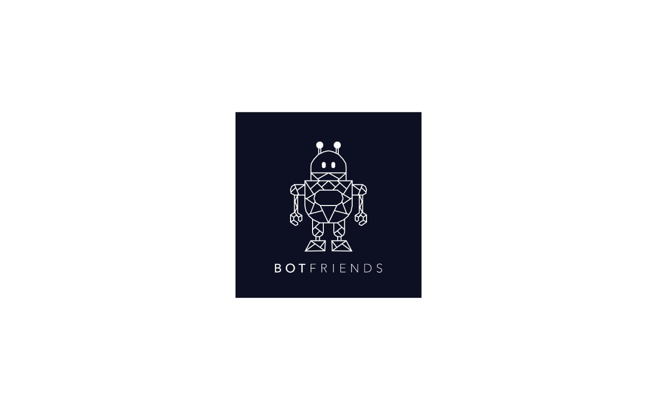 BOTfriends Logo schwarz weiß