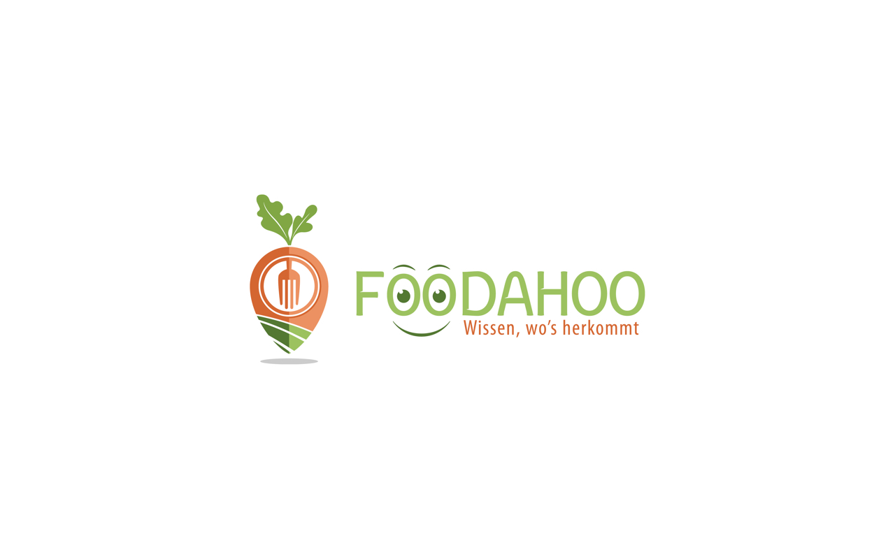 Foodahoo - Wissen, wo's herkommt Logo orange grün