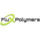 Flux Polymers Logo grau und grün