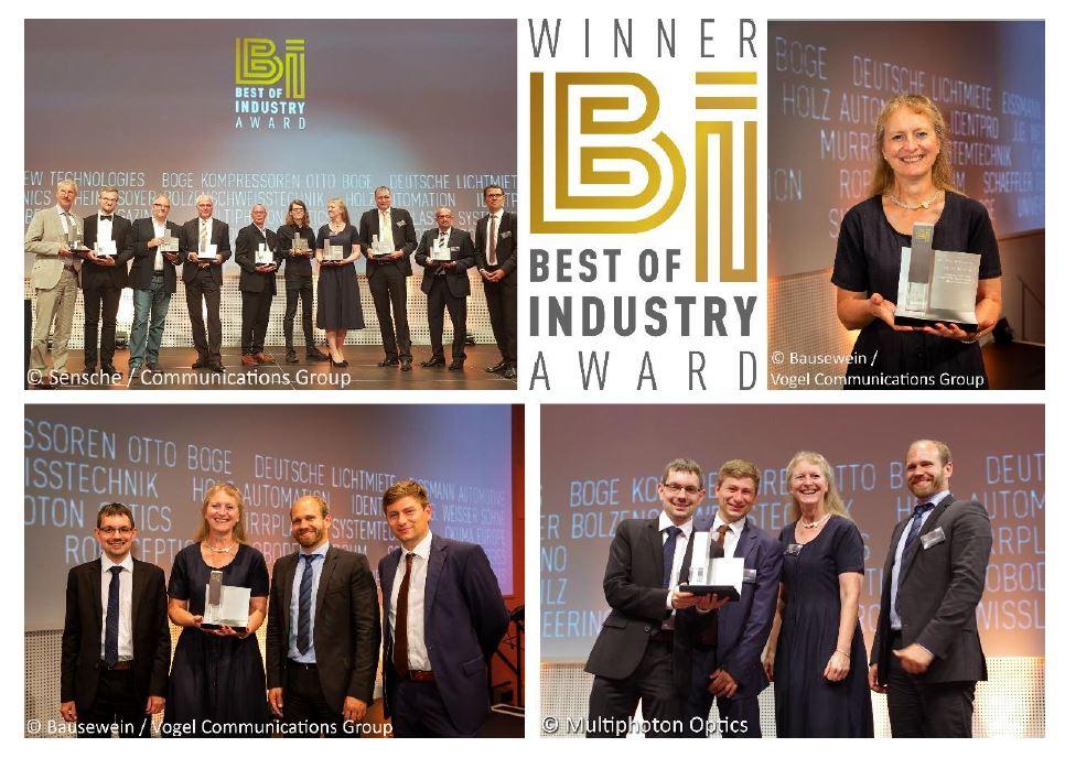 collage aus verschiedenen Bildern mit dem Gewinnerteam des Awards