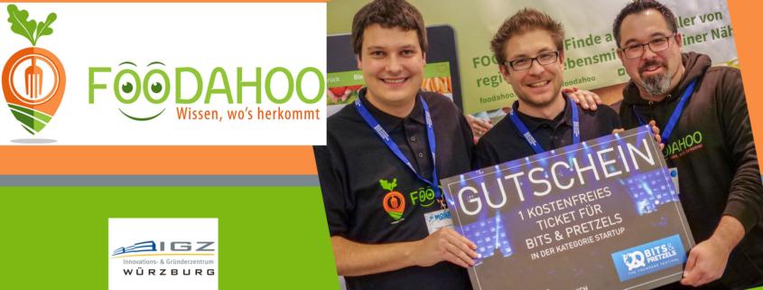 Foodahoo UG haftungsbeschränkt - Logo mit Karotte und die drei GRünder