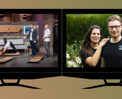 zwei TV-Sillhouetten