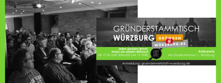 Gründerstammtisch Würzburg, Publikum,.Plakat