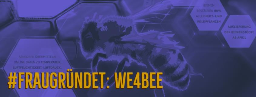 biene im flug text: fraugründet wee for bee