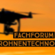 drohne am orangen himmel: fachforum drohnentechnologie