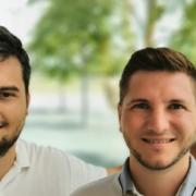 Profil zweier Männer, Logo, Vision4quality