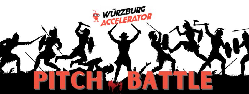 Schlacht von Wikingern Schrift WÜ Accelerator Pitch Battle mit Blut